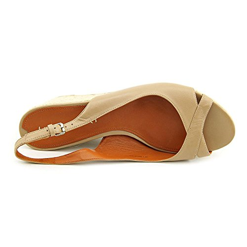 7 Via Size UK Leather Wedge Womens Shoes Nude Luciana Spiga Sandals xxvfqU1