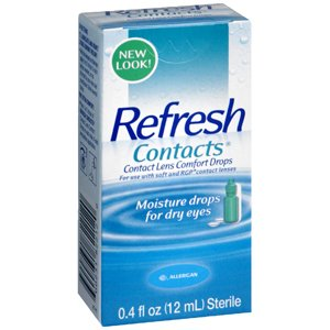 Allergan Refresh Soft Contacts, Contact Lens Comfort Drops - 0.4 Fl Oz (12 Ml) (Pack of 5) Med-Choice
