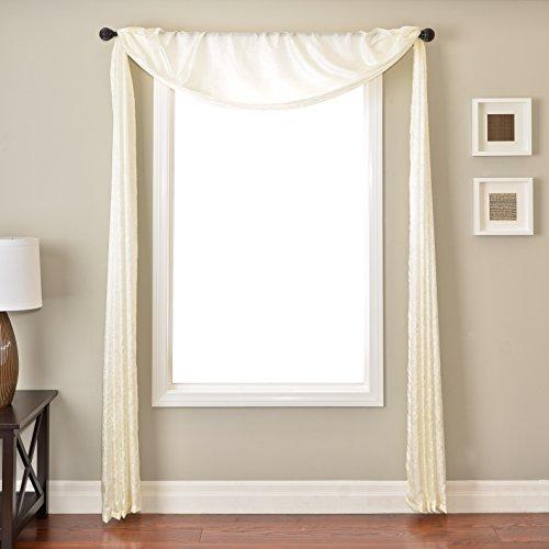 Softline Home Fashions SKNZchamSC Gigi 6 Yard Window Scarf, Champagne ()