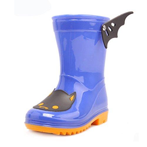 Coloré mignon Kid de pluie cothurne Bottes Chaussures Imperméable Bottes, bleu