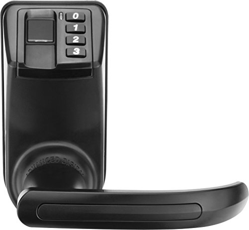 Barska Biometric Door Lock Reversible Handle, Black by BARSKA (Image #2)