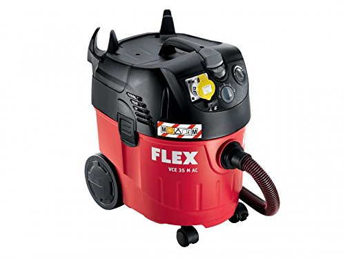 Flex Power Tools FLXVCE35MACL VCE 35 M 1030 W 110 V AC Safety Vacuum Cleaner With Power Take Off  - Red