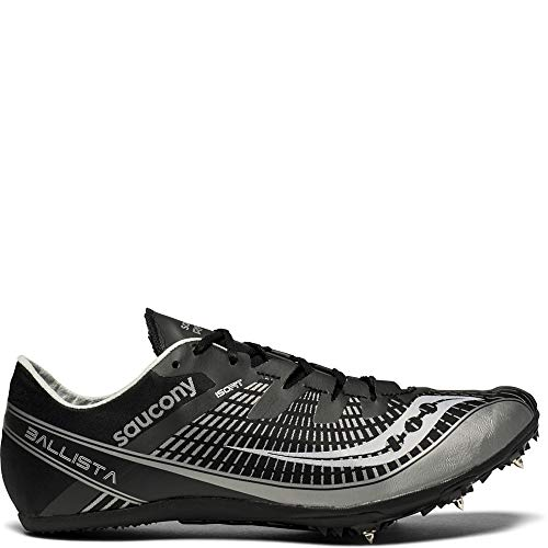 Saucony Men's Ballista 2 Track and Field Shoe, Black/Silver, 13 Medium US