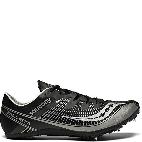 (Saucony Men's Ballista 2 Track and Field Shoe, Black/Silver, 13 Medium US)
