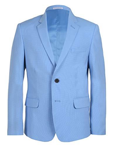 Calvin Klein Big Boys' Patterned Blazer Jacket, Pindot Blue, 14 ()