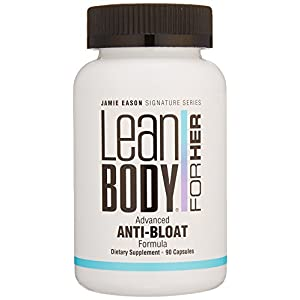 Labrada Nutrition Jamie Eason Lean Body for Her Advanced Anti Bloat and Detox Formula Capsule, Picamilon or Pikatropin Free, 90 Count