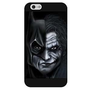 UniqueBox - Customized Personalized Black Frosted iPhone 6 5.5 Case, The Joker, Batman Logo, Batman iPhone 6 Plus case, Only fit iPhone 6+ (5.5 Inch) Kimberly Kurzendoerfer