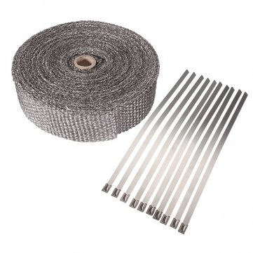 Fibreglass Exhaust Fumes - 10m Fiberglass Exhaust Header Wrap Insulator Turbo Pipe Heattape - System Tucker Run Wipe - 1PCs