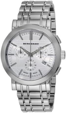 Burberry Men s BU1372 Heritage Silver Chronograph Dial Bracelet Watch