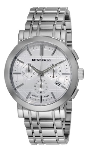 Burberry Men's BU1372 Heritage Silver Chronograph Dial Bracelet Watch