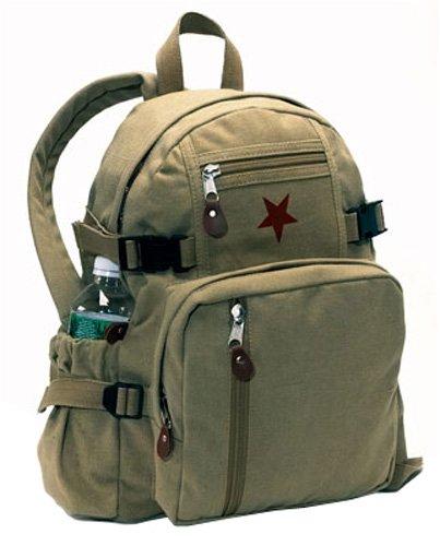 Khaki Vintage MINI Star Backpack Bag, Khaki