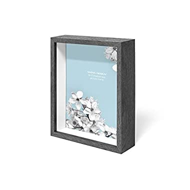 Swing Design Chroma Shadow Box Frame, 8 by 10-Inch, Charcoal Gray
