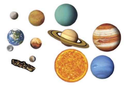 Learning Resources Giant Magnetic Solar System, Whiteboard Display, 13 Piece Set, Ages 5+ ()