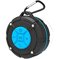 ASIYUN Portable Waterproof Wireless Shower Speakers with IPX7 HD Sound, Suction Cup, Speakers Buit-in Mic, Hands-Free Speakerphone for iPhone, iPad iPod and Android Phones