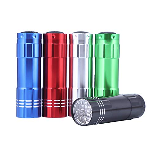 Mini Flashlights Set, Super Bright 9 LED Handheld Flashlights with Lanyard and AAA Batteries, LED Flashlight for Kids(5 Pack)