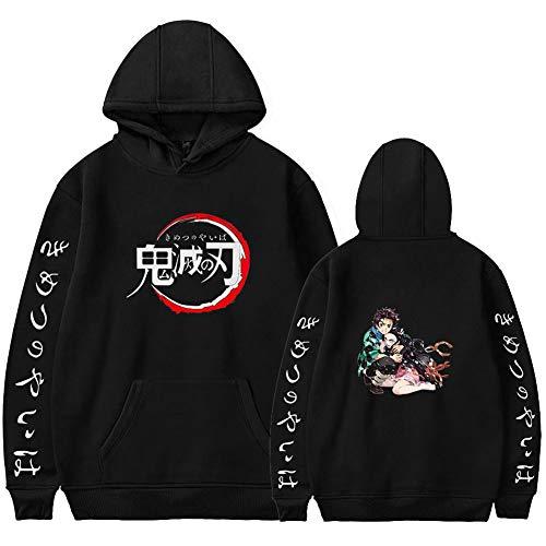 Joyee Unisex Demon Slayer: Kimetsu no Yaiba Kamado Tanjirou Cosplay Hoodies, Long Sleeve Sweater Costume Coat.2