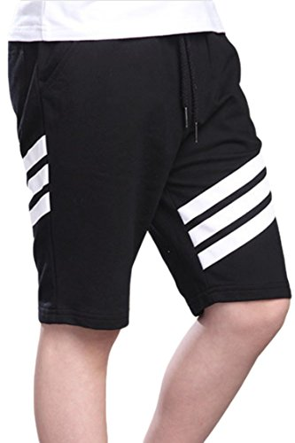 表面嫌がるディーラー(コズーン) KO ZOON B65 ハーフ パンツ メンズ スウェット 3本 ライン スポーツ トレーニング メンズファッション