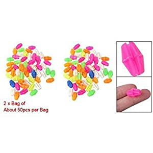 SODIAL(R) 2 Bag Colorful Plastic Clip Spoke Bead Bicycle Decor for Kid Bike