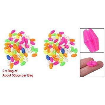 SODIAL(R) 2 Bag Colorful Plastic Clip Spoke Bead Bicycle Decor for Kid Bike