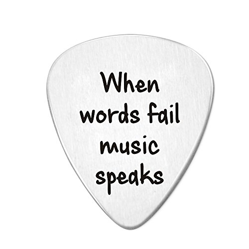 Paris Selection When Words Fail Music Speaks Guitar Pick