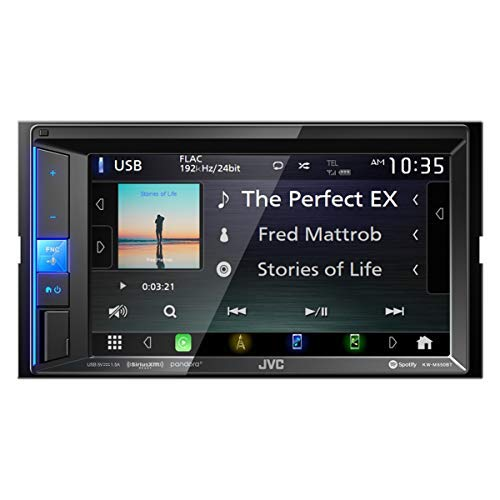 JVC KW-M650BT Digital Media Receiver with Bluetooth 6.2 Touch Screen /& Apple CarPlay Compatible