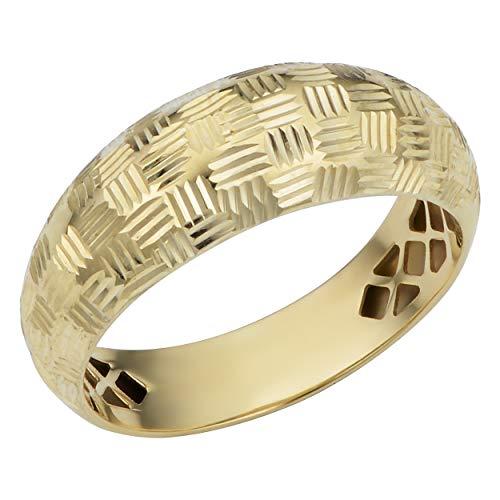 Kooljewelry 10k Yellow Gold Diamond-Cut Weave Design Ring (Size 8) 10k Gold Weave Ring