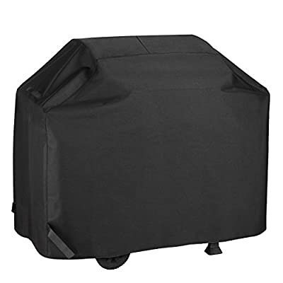 BBQ Gas Grill Cover With Cooking Tools Set Waterproof &Rip Resistant Heavy Duty 58 Inch 3-4 Burners Electric Barbecue Grill Cover Fit Weber, Charbroil, And Other Most Popular Grill Brands(Black)