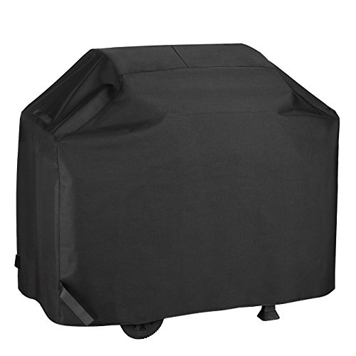 Kainier BBQ Gas Grill Cover Waterproof &Weather Resistant Heavy Duty 58 Inch 3-4 Burners Electric Barbecue Grill Cover Fit Weber, Charbroil, and Other Most Brands of Outdoor Stainless Grill. (Black)