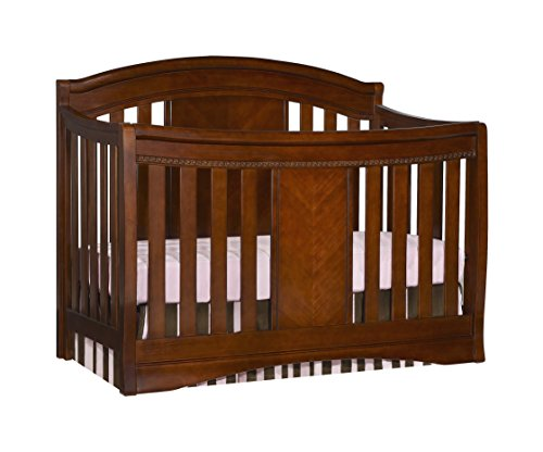 Simmons Slumber Time Elite 4-in-1 Convertible Kids Crib, Espresso Truffle For Sale