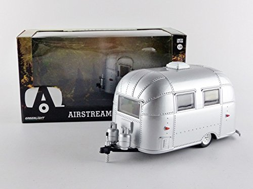 Greenlight 18224 Airstream Bambi 16' Camper Trailer Silver for 1/24 Scale  Model Cars and Trucks 1/24 Diecast Model