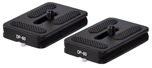 2 Pack DP-60 60mm QR Lens / Camera Body Plate Arca & RRS Compatible w D-Ring (Arca Swiss Plates)