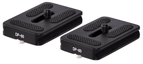 2 Pack DP-60 60mm QR Lens / Camera Body Plate Arca & RRS Compatible w D-Ring Desmond