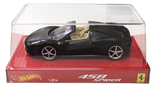 Hot wheels BLY65 Ferrari 458 Italia Spider Matt Black 1/24 Diecast Car Model by Hotwheels