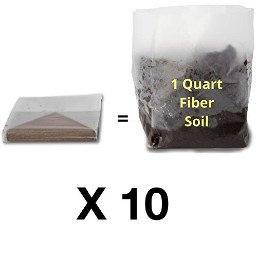 - Fiber Soil (10 - 1 Quart) Pop Up Bags - Organic Potting Soil in Convenient Expanding Bags. Grow in Bag or Use in a Planter. Ideal for Any Plant, Cat Grass, Microgreens, Seedlings. Easy-to-Store.