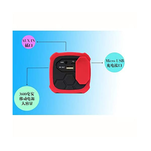 Haut-Parleur Portable Bluetooth étanche Voyage en Plein airHaut-Parleur Bluetooth Rouge 172mmx68mm 7