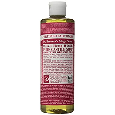 Dr. Bronner'S Magic Soaps 18-In-1 Hemp Pure Castile Soaps Rose 32 Fl. Oz.