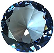 Tripact 80 mm Crystal Diamond Shaped Jewel Paperweight