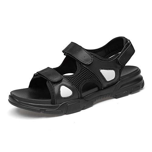 Noir 39 EU Watermelon Chaussures d'été pour Hommes avec Fermeture à Velcro, Sandales à Chaussures à Bout Ouvert, Chaussures de Plage en PU (Couleur   Noir, Taille   39 EU)