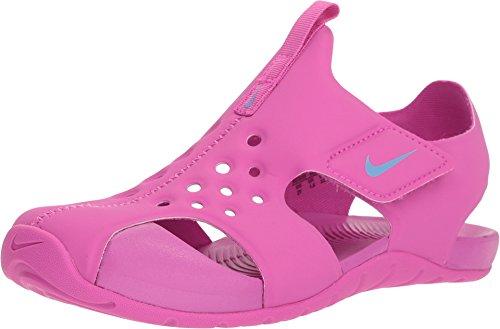 Nike Little Girl's Sunray Protect 2 Sandals-Hyper Magenta/Royal Pulse-1 - Nike Girls Sandals