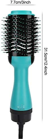 Hair Dryer Brush Negative Ion Hot Air Brush One-Step Hair Dryer Straightening Curling Hairstyling Comb  nMIpj