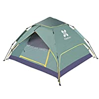 HoweNel Double Layer Easy Pop Up Beach Tent, Large 3-4 Person Sun Shelter, Windproof Waterproof Family Beach Shade, Portable Shark Beach Tent, Instant Sunshade Cabana Canopy with Carry Bag