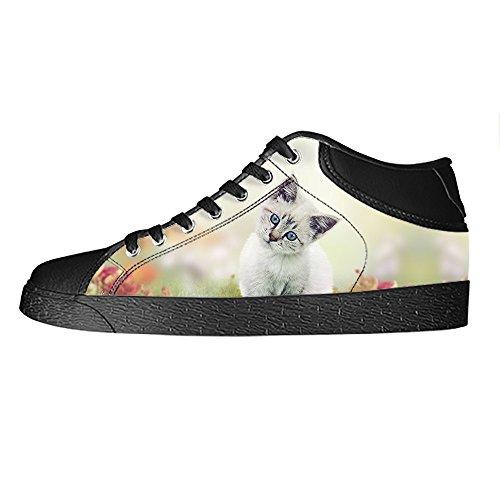 Custom Gatti di pittura Womens Canvas shoes I lacci delle scarpe scarpe scarpe da ginnastica Alto tetto