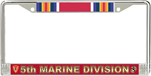 5th Marine Division WW2 License Plate Frame