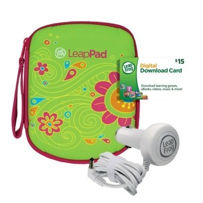 Leapfrog Leappad Accessories On-the-go Bundle. Flower Carrying Case, Car Adapter & $15 Digital Download - Leapfrog Car Adapter