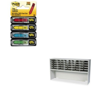 KITMLNSR6033RPGMMM684SH - Value Kit - Mayline Kwik-File Mailflow-To-Go 1 Tier Sorter w/Riser (MLNSR6033RPG) and Post-it Arrow Message 1/2amp;quot; Flags (MMM684SH)