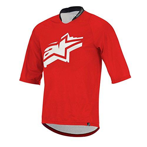 Alpinestars Men's Totem 3/4 Sleeve Jersey, Red/White, X-Large
