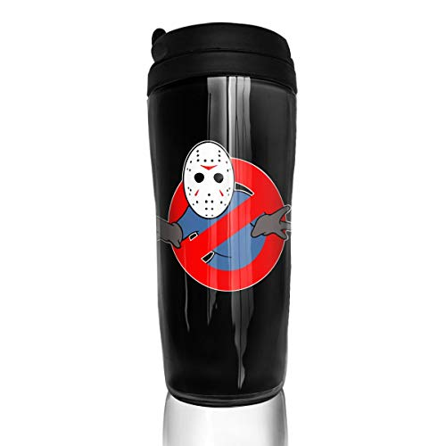 Cheny Stylish Ghostbusters Jason Voorhees Insulated Traveler Coffee Mug Tumbler Coffee Cup 12 Ounce]()