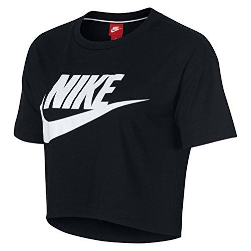 Sportswear Nero T Bianco Donna Nike Essential Shirt Ow40qn8x