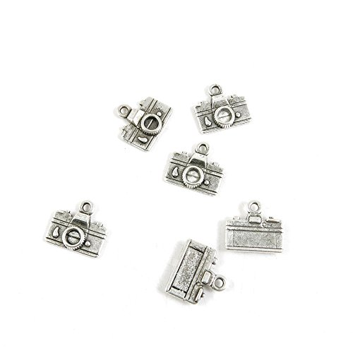 30 x Antique Silver Tone Jewelry Making Charms Findings Handmade Necklace Bracelet Bulk Lots Supplier Supply Crafting S7AW2 Camera