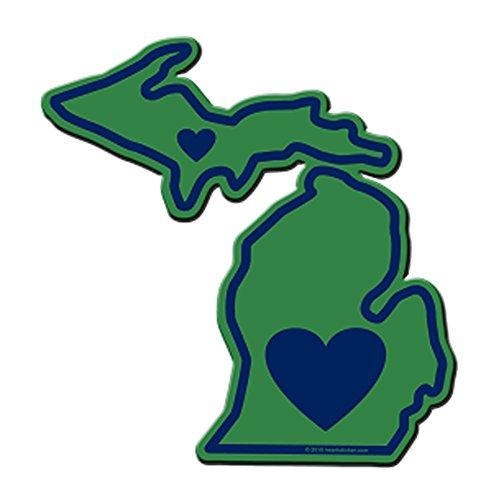 - Heart in Michigan Sticker Vinyl Decal Label Stickers, Die-Cut Shape for Water Bottle Laptop Luggage Bike Laptop Car Bumper Helmet Waterproof Show Love Pride Local MI. Upper and Mitten